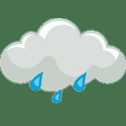 mäßiger regen Nacht