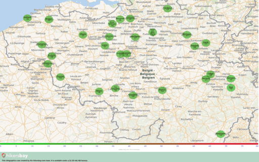 Pollution in Spa, Belgium Atmospheric aerosols (dust) with a diameter of no more than 2.5 μm hikersbay.com