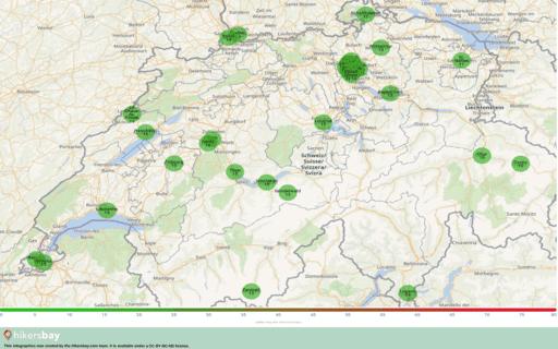 Pollution en Suisse Aérosols atmosphériques (poussières) d'un diamètre inférieur ou égal à 2,5 μm hikersbay.com