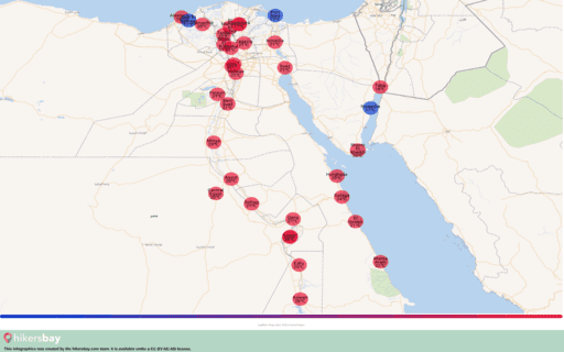 Været i Egypt i Januar 2021. Reiseguide og råd. Les en oversikt over klimaet. hikersbay.com