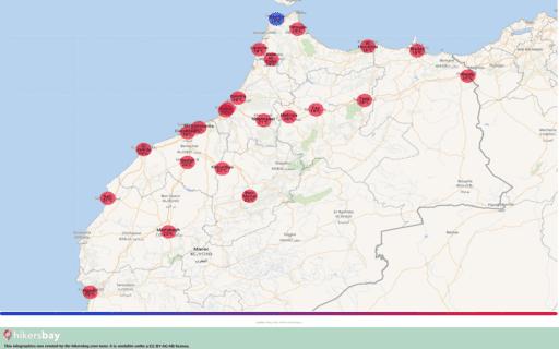 Thời tiết ở Maroc trong tháng Ba 2020. Lời khuyên và hướng dẫn du lịch. Đọc tổng quan về khí hậu. hikersbay.com