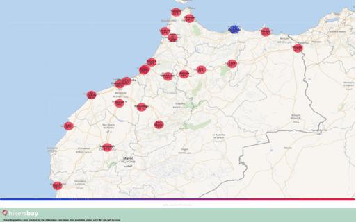 Tempo em Marrocos em Maio 2020. Guia de viagens e conselhos. Ler uma descrição geral do clima. hikersbay.com