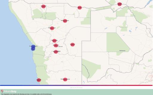 Времето в Намибия в Октомври 2020. Пътеводител и съвети. Прочетете преглед на климата. hikersbay.com