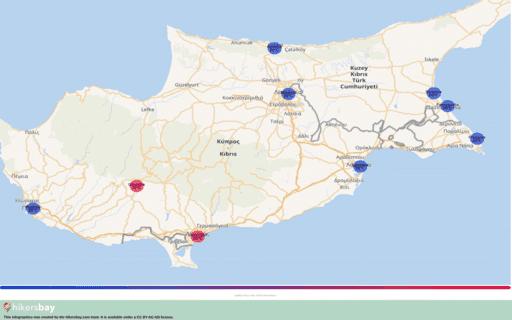 Ο καιρός στη Κύπρος στο Μάρτιος 2020. Ταξιδιωτικός οδηγός και συμβουλές. Διαβάστε μια επισκόπηση του κλίματος. hikersbay.com