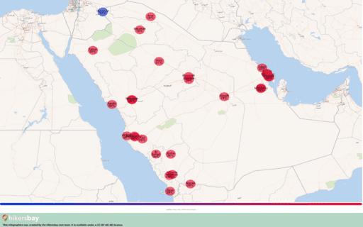 Weer in Saoedi-Arabië in Januari 2020. Reisgids en adviezen. Lees een overzicht over het klimaat. hikersbay.com