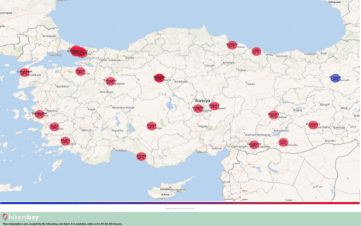 Počasí v Turecko v Červen 2020. Cestovní průvodce a tipy. Přečtěte si základní informace o podnebí. hikersbay.com