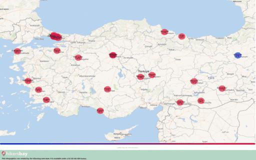 Ο καιρός στη Τουρκία στο Μάρτιος 2020. Ταξιδιωτικός οδηγός και συμβουλές. Διαβάστε μια επισκόπηση του κλίματος. hikersbay.com