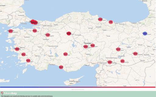Počasí v Turecko v Říjen 2020. Cestovní průvodce a tipy. Přečtěte si základní informace o podnebí. hikersbay.com