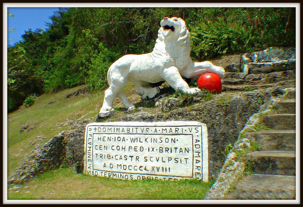 תמונה של Gun Hill Lion. barbados britisharmy royalscotsfusiliers